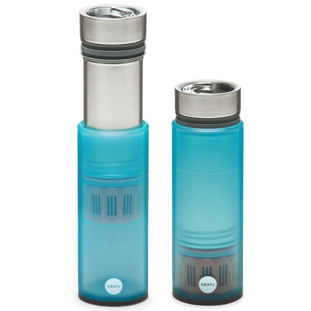 GRAYL INC Quest Water Bottle, With Trail Filter - BLUE