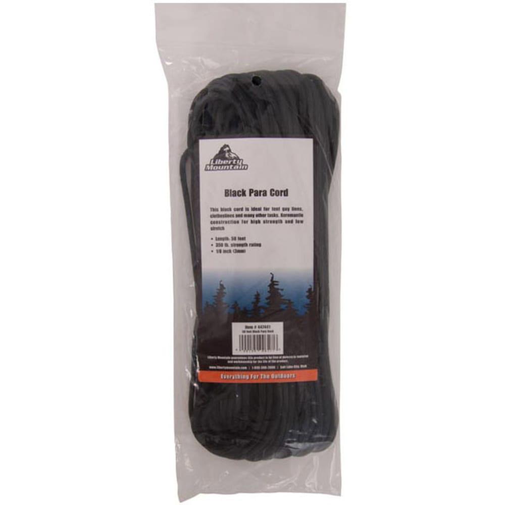 LIBERTY MOUNTAIN Para Cord, 50 ft. - BLACK