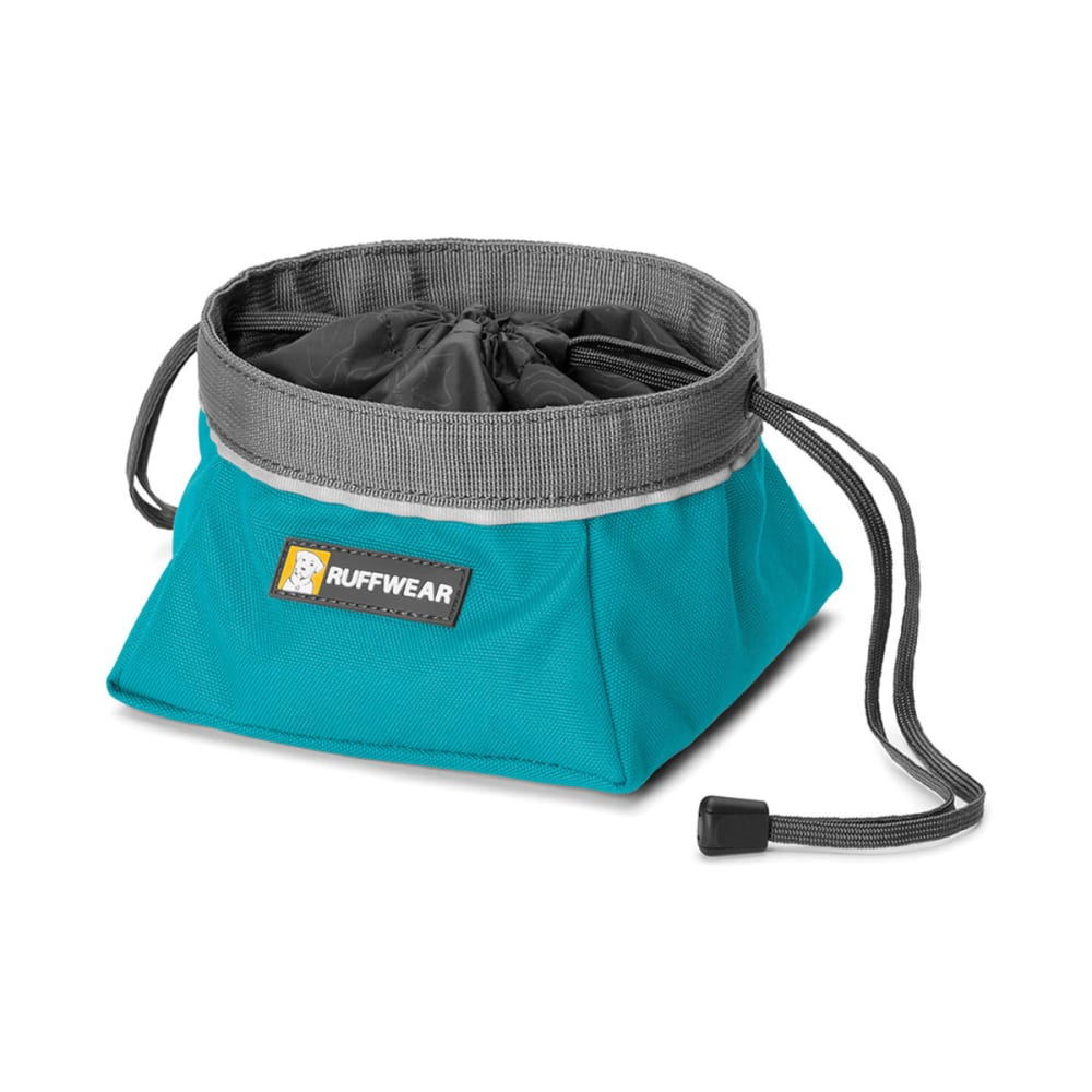RUFFWEAR Quencher Cinch Top Dog Bowl, Medium - BLUE