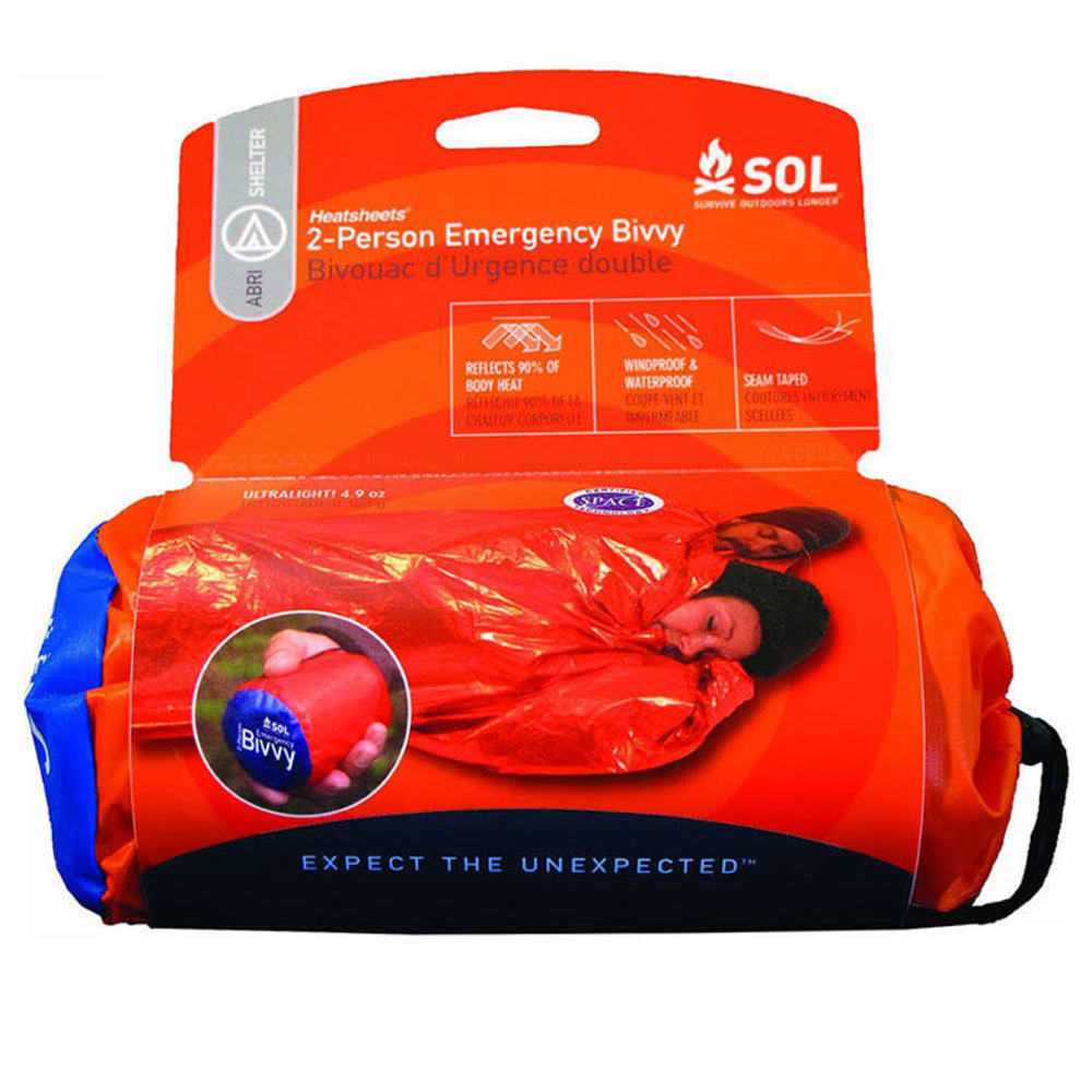 ADVENTURE MEDICAL KITS Survive Outdoors Longer 2 Person Emergency Bivvy - ORANGE/BLACK