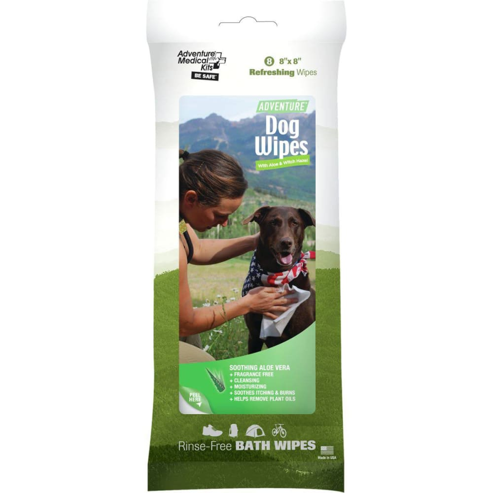 ADVENTURE MEDICAL KITS Adventure Dog Wipes - GREEN
