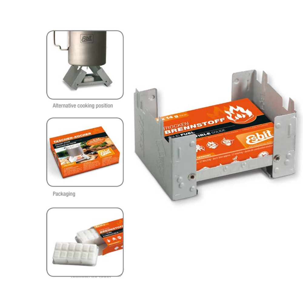 Pocket Stove with Fuel 6 pc x 14g NA