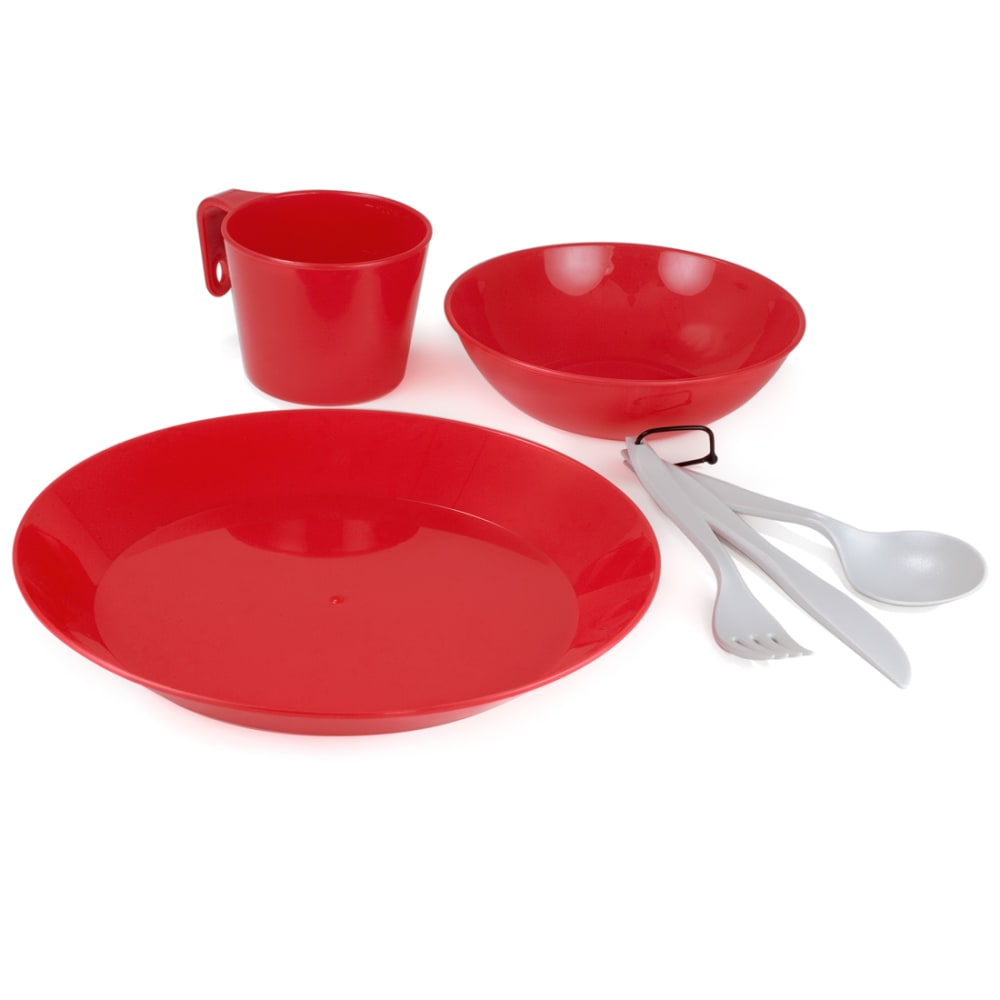 GSI 1-Person Camp Dish Set - RED/77311