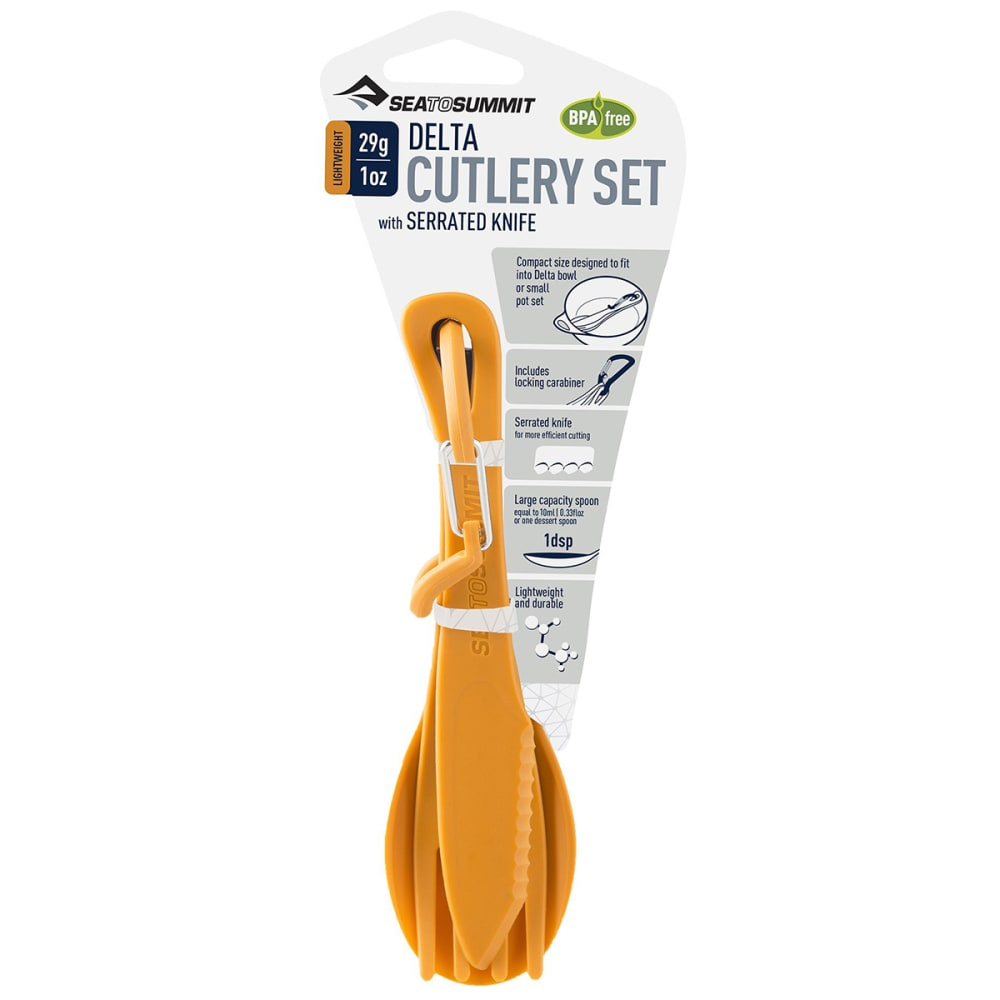 SEA TO SUMMIT Delta Cutlery Set - ORANGE