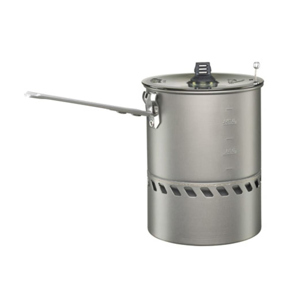 If you've misplaced the one that came with your Reactor stove system, this MSR Reactor 1.0 pot will get you cooking again in no time. Proprietary heat exchanger fully encloses the Reactor stoves radiant burner; windproof design offers unrivalled performance in any conditions. Perfect for 1-2 people or when weight and space are at a premium. Includes BPA-free clear plastic strainer lid and folding/locking handle. Compatible exclusively with the MSR Reactor stove. Packed size: 4.75 x 6.1 in. (12 x 15.5 cm).
