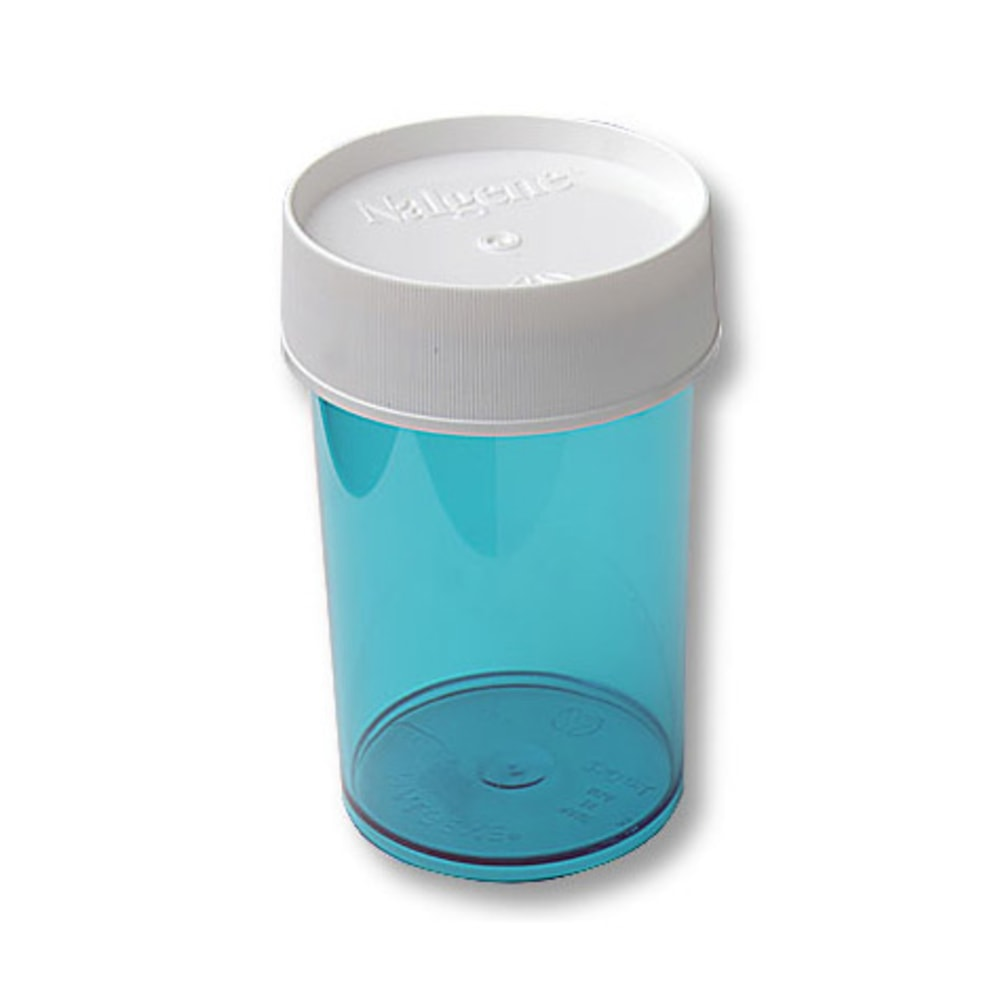 NALGENE Lexan Jar, Colored, 8 oz. - BLUE