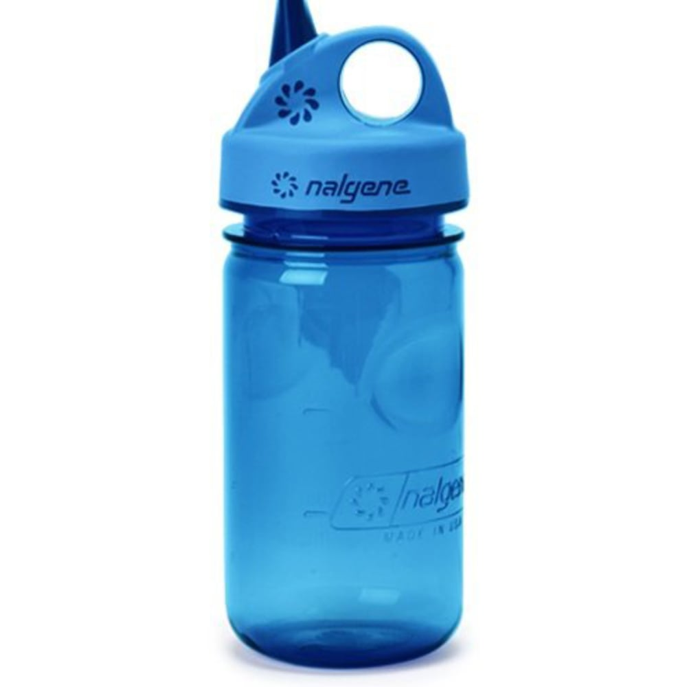 NALGENE Kids' Grip 'n Gulp Water Bottle, 12 oz. - SLATE BLUE
