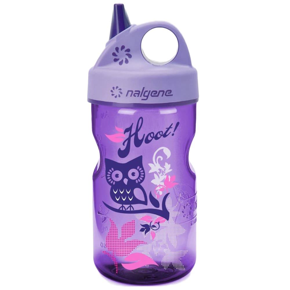 NALGENE Kids' Grip 'n Gulp Water Bottle, 12 oz. - PURPLE HOOT