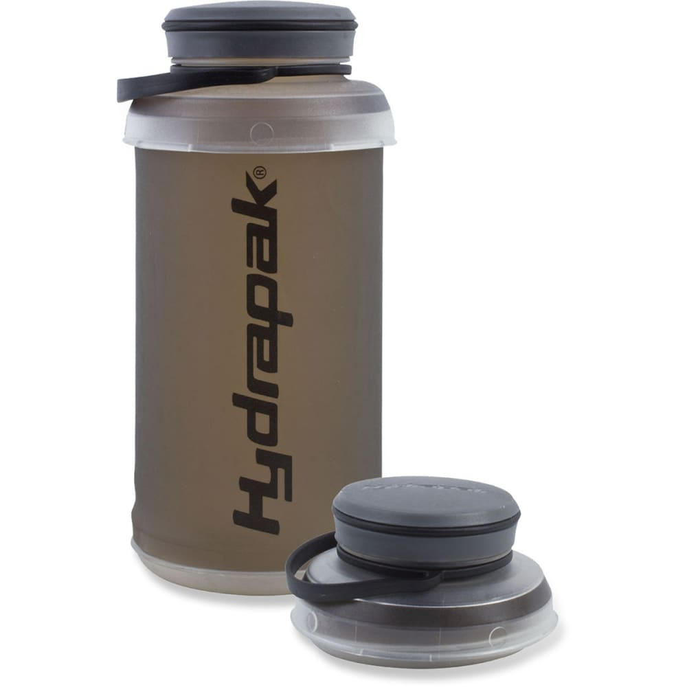 HYDRAPAK Stash Water Bottle, 1L - SMOKE