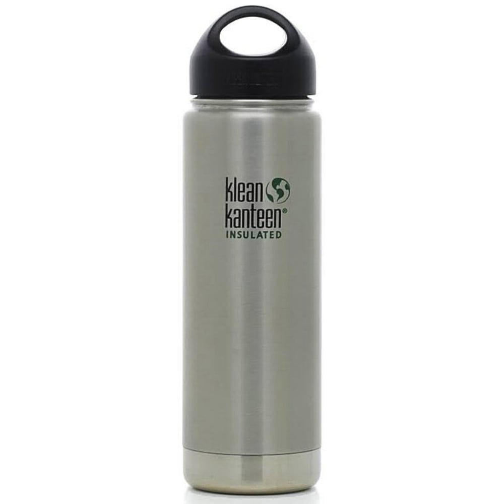 KLEAN KANTEEN Stainless Steel Wide Mouth Insulated Bottle, 20 oz. - STAINLESS
