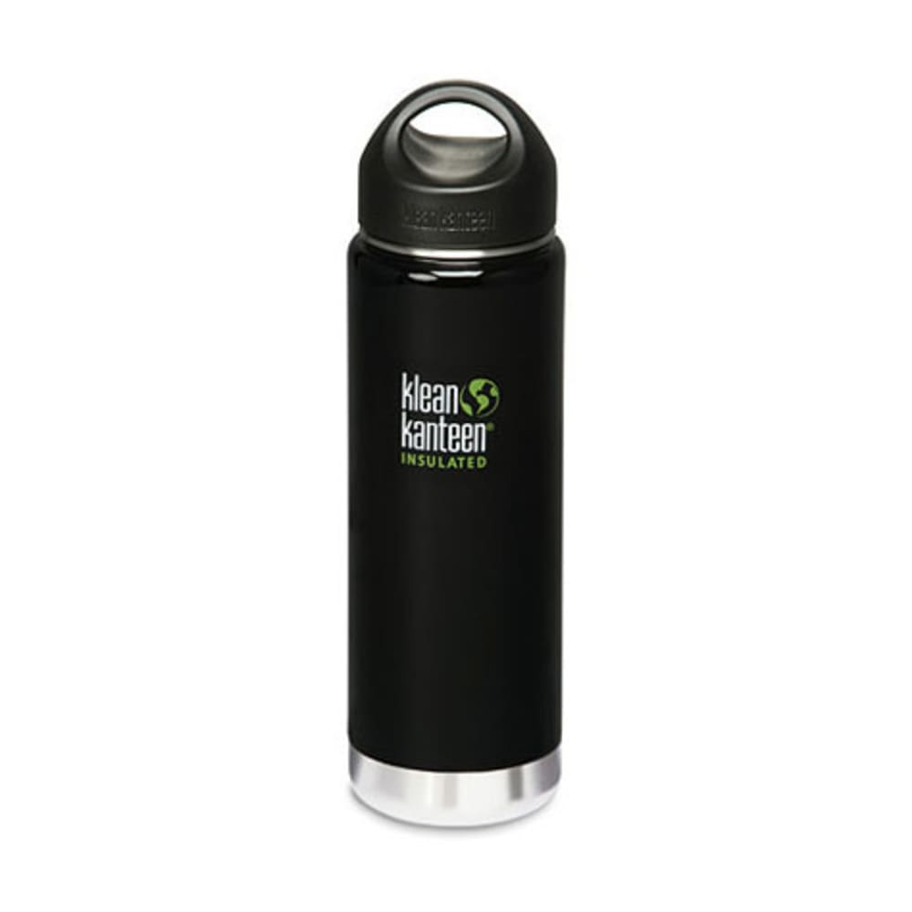 KLEAN KANTEEN Wide Mouth Insulated Bottle, 20 oz. - BLACK