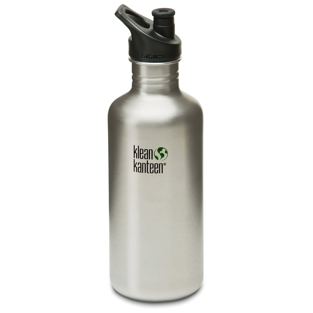 Klean Kanteen Stainless Steel Sport Cap Bottle, 40 Oz. - Black 559611