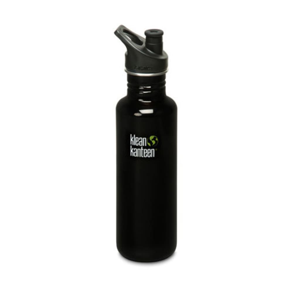 KLEAN KANTEEN Sport Cap Bottle, 27 oz. - BLACK