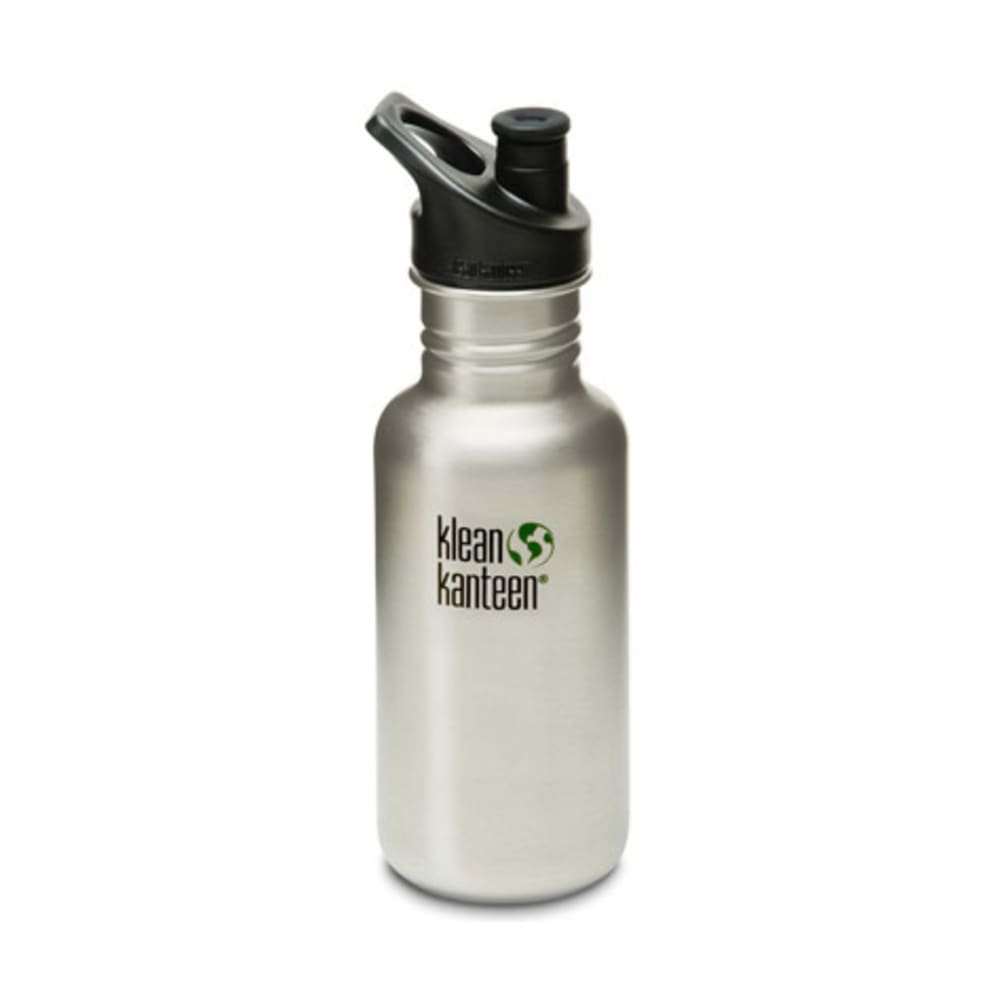 KLEAN KANTEEN Stainless Steel Sport Cap Bottle, 18 oz. - STAINLESS