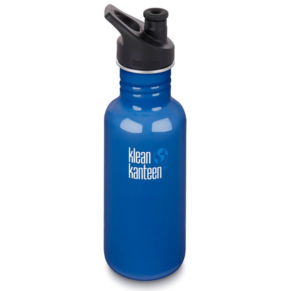 Klean Kanteen Sport Cap Bottle, 18 Oz. - Blue 6095