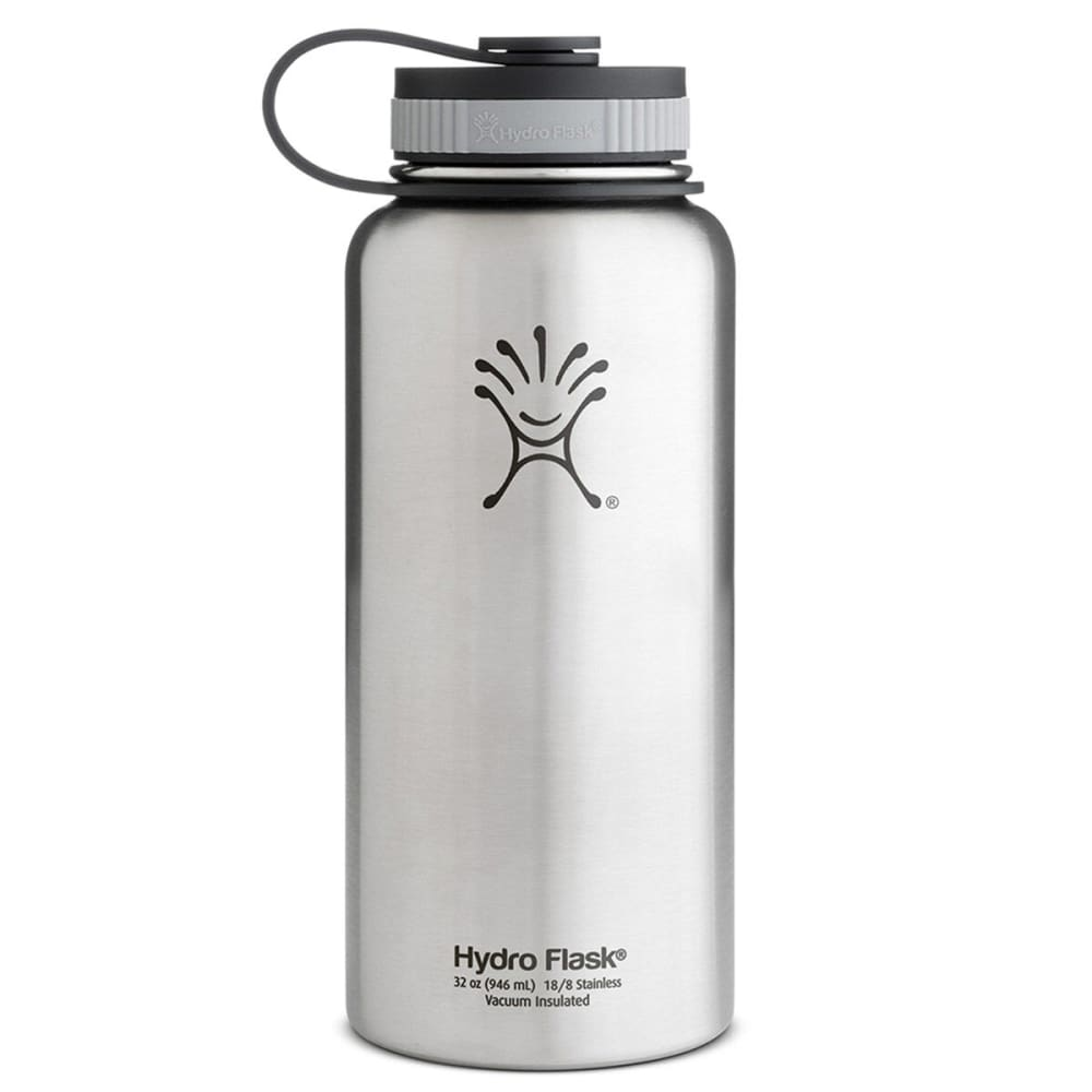 HYDRO FLASK 32 oz. Wide Mouth Water Bottle, Stainless - STAINLESS