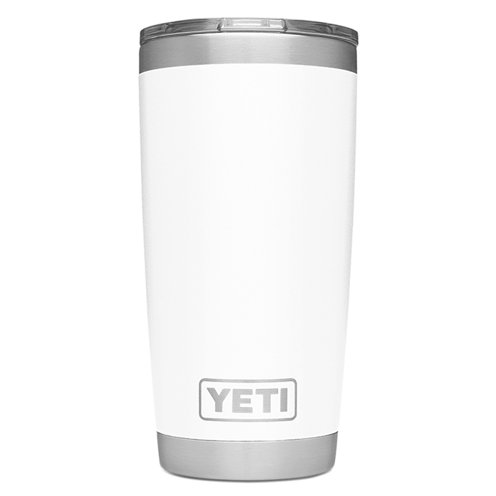 YETI Rambler 20 Stainless Steel Vacuum-Insulated Tumbler with Lid - WHITE