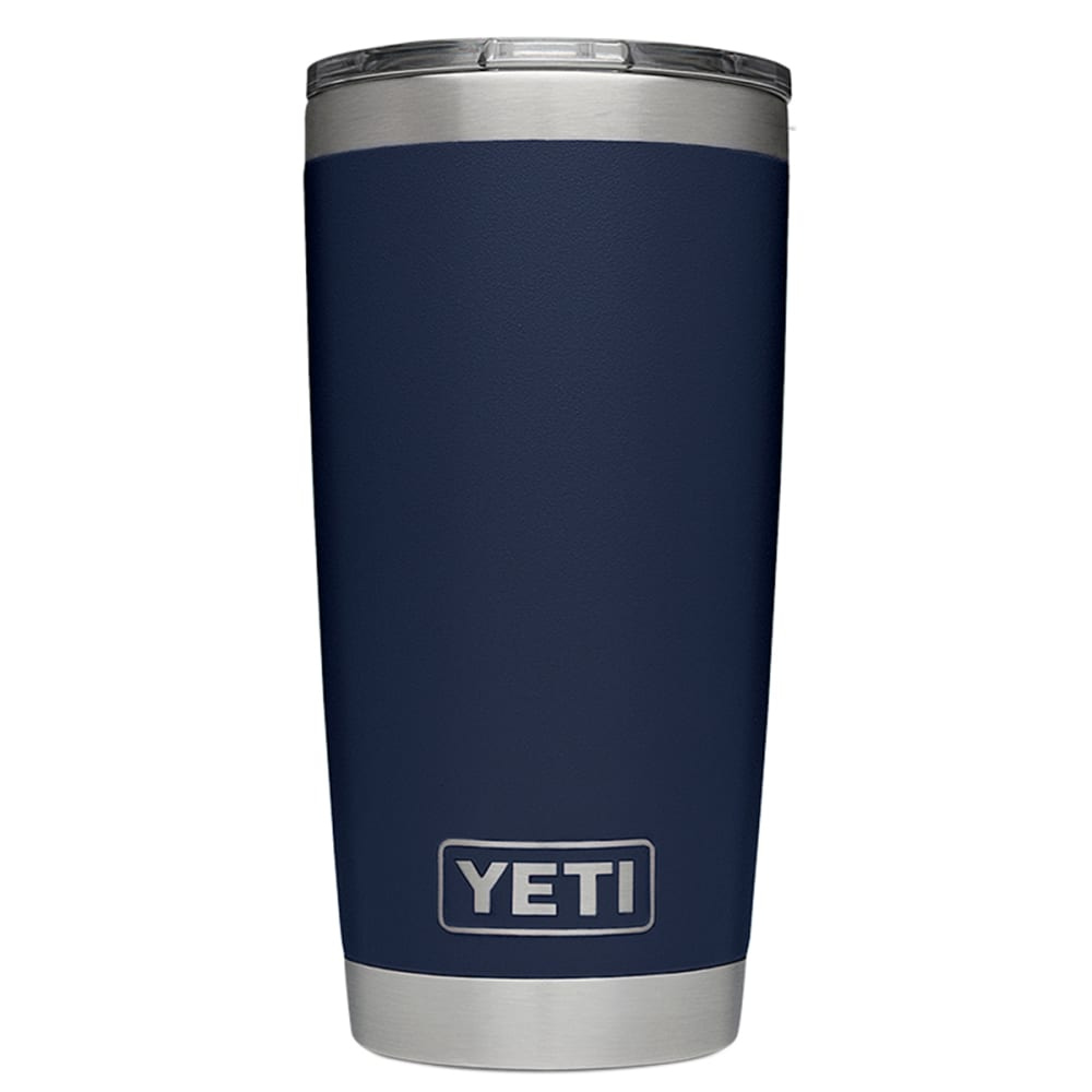 YETI Rambler 20 oz. Stainless Steel Vacuum-Insulated Tumbler with Lid - NAVY