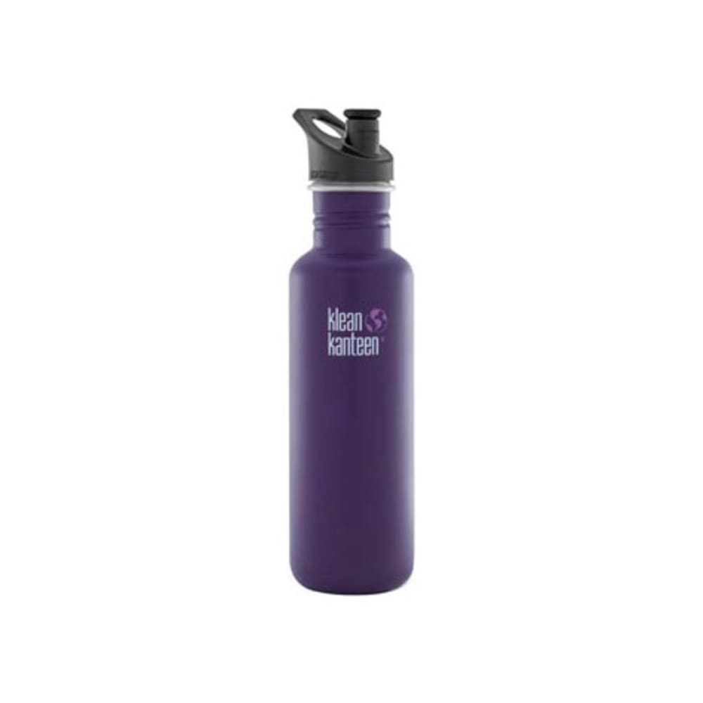 KLEAN KANTEEN Sport Cap Bottle, 27 oz - PURPLE