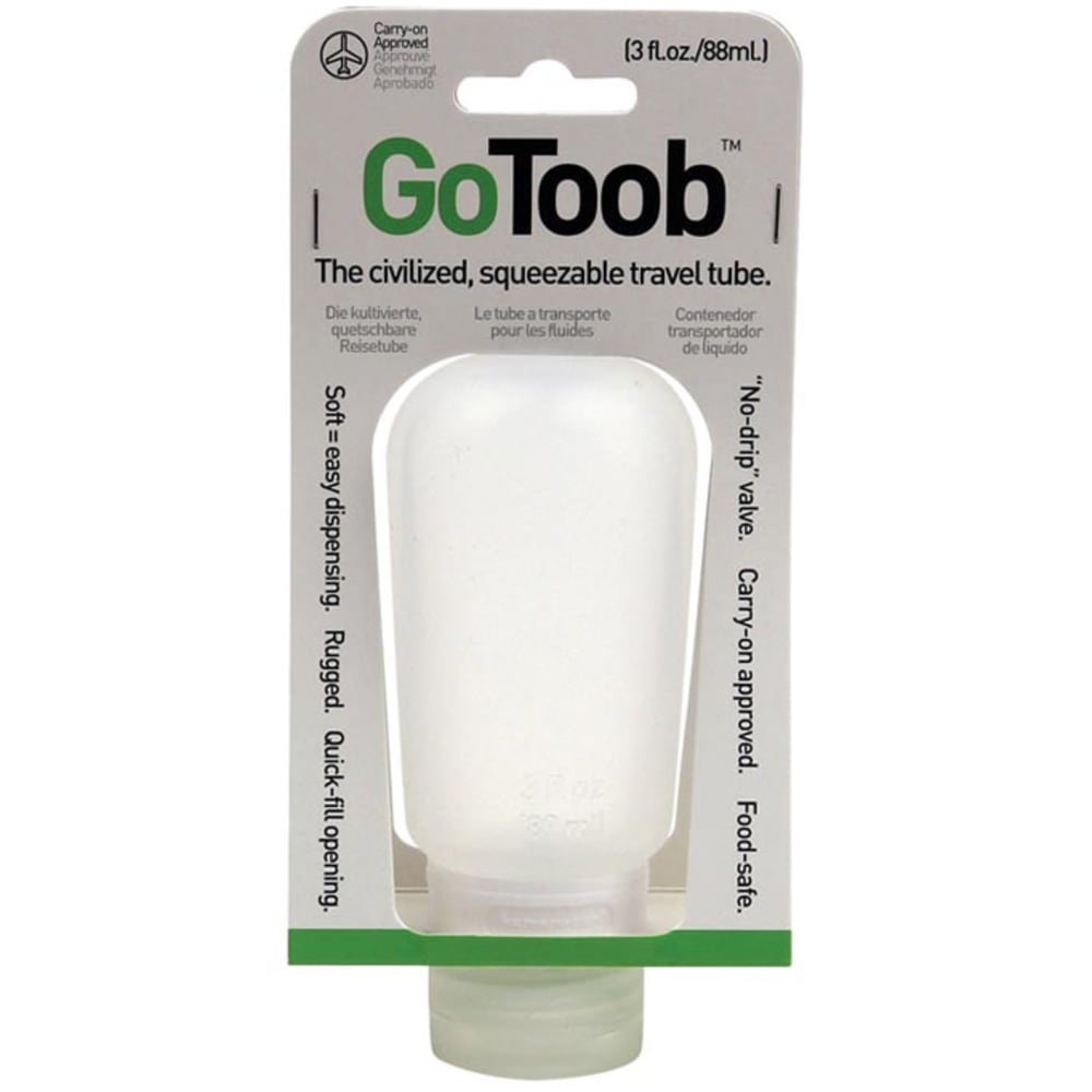 HUMAN GEAR GoToob, 3 oz., Clear - CLEAR