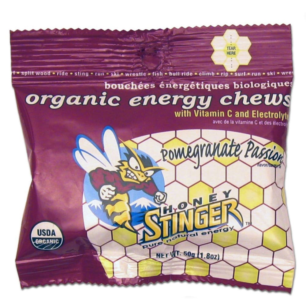 HONEY STINGER Fruit Smoothie Chews, Box of 12 - POMEGRANATE