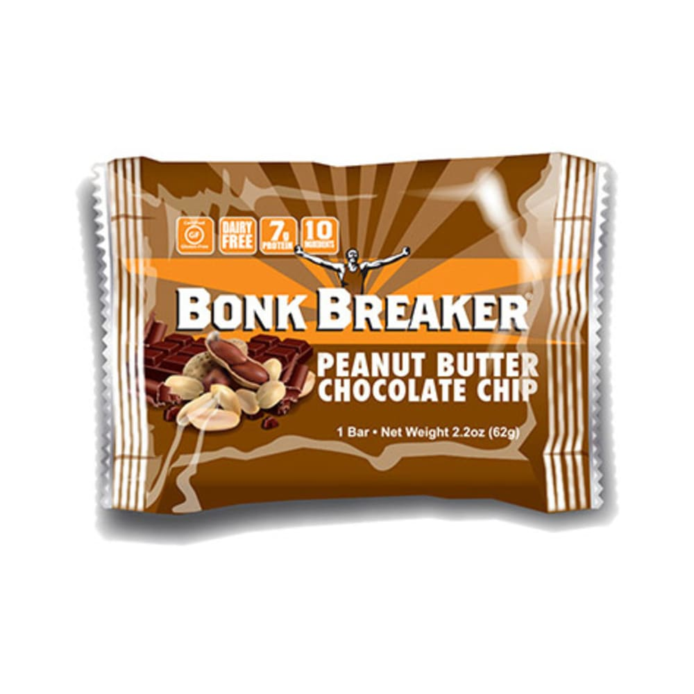 BONK BREAKER Peanut Butter and Chocolate Chip Energy Bar - NONE