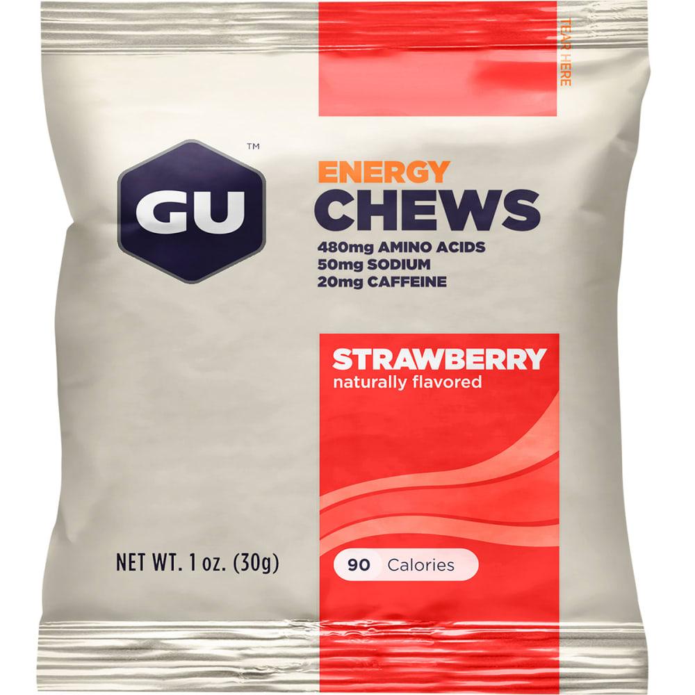 GU Energy Chews, Strawberry - STRAWBERRY