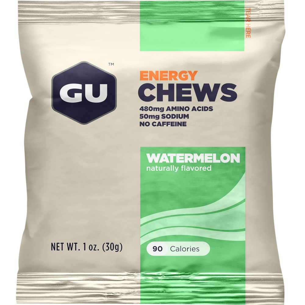 GU Energy Chews, Watermelon - NONE