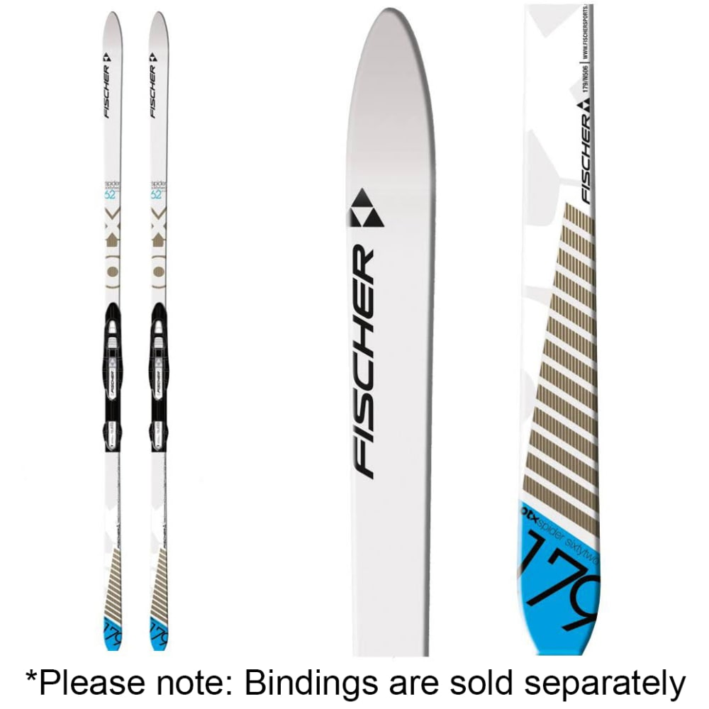 FISCHER Spider 62 Cross Country Skis - WHITE/BROWN