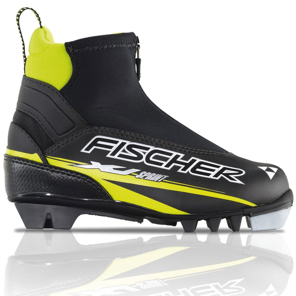 FISCHER Kids' XJ Sprint NNN Ski Boots - BLACK/YELLOW