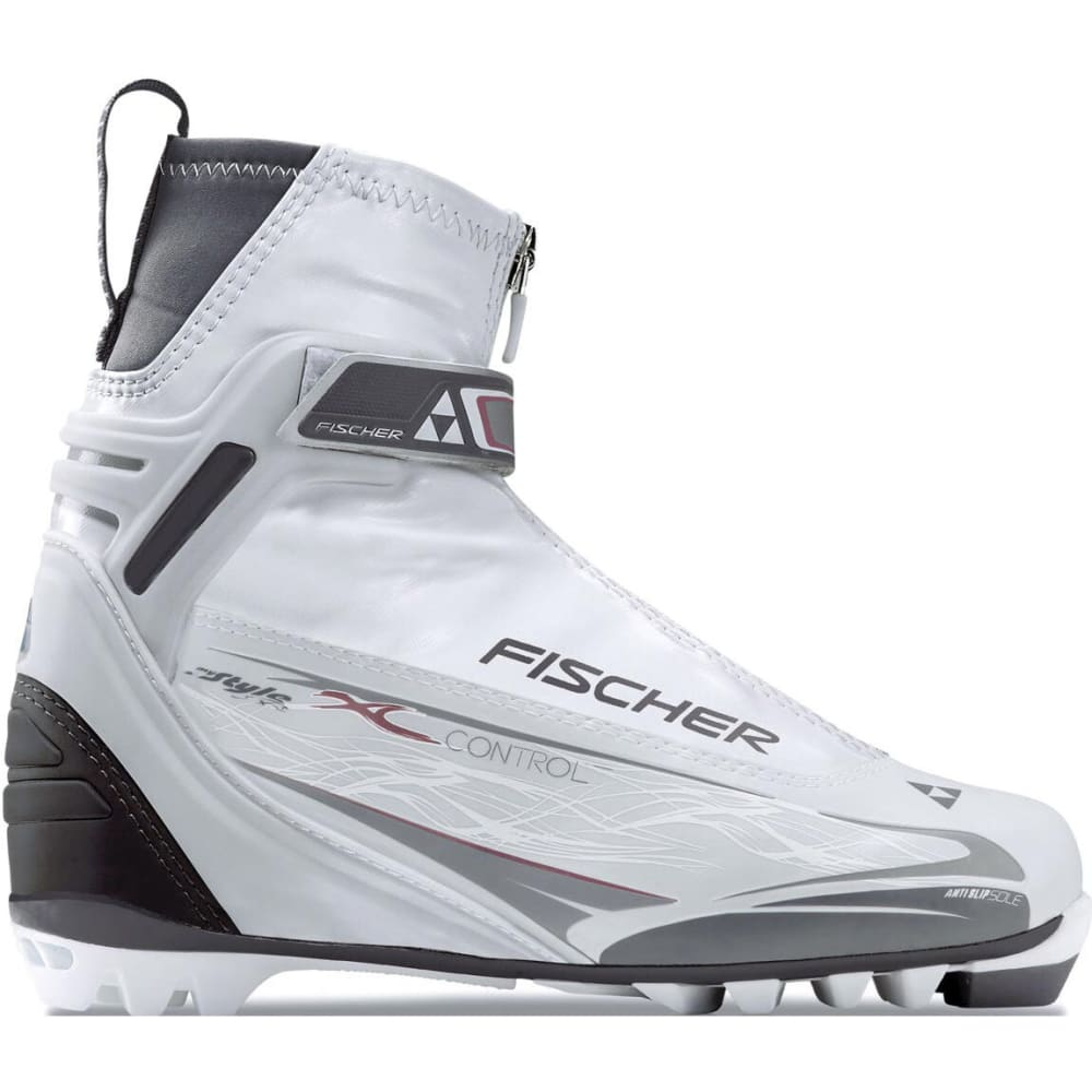 FISCHER Women's XC Control Nordic Ski Boots - WHITE/GREY