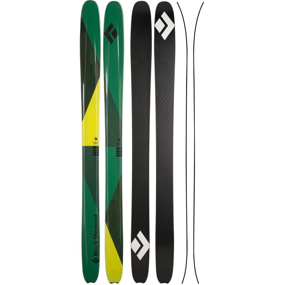 BLACK DIAMOND Boundary 115 Skis - GREEN