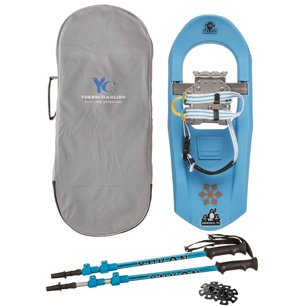 YUKON CHARLIES 716 Molded Snowshoe Kit, Blue - BLUE
