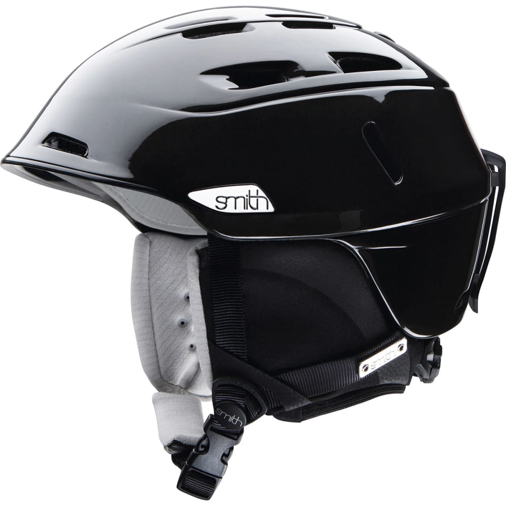 SMITH Women's Compass Snow Helmet, Metallic Black - BLACK