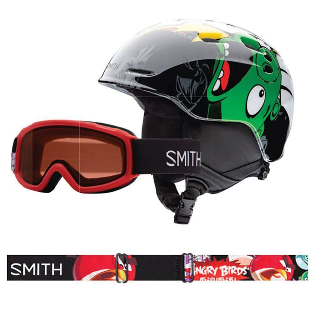 SMITH Kid's Zoom Helmet-Sidekick Goggles Combo - ANGRY BIRD