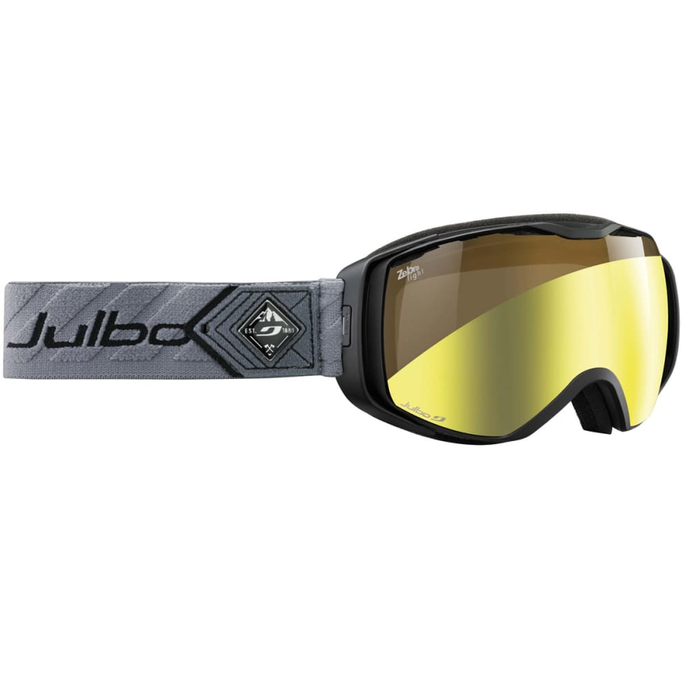 JULBO Universe Snow Goggles with Zebra Light Lens, Black/Gray - BLACK/GRAY