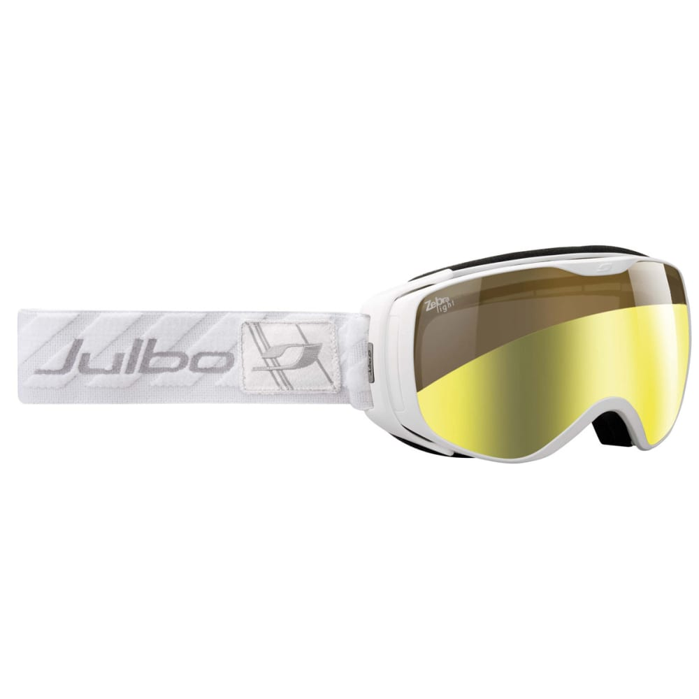 JULBO Women's Luna Snow Goggles with Zebra Light Lens, White - WHITE