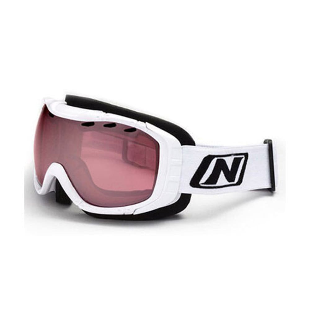 OPTIC NERVE Columbine Snow Goggles, Shiny White Rose - WHITE