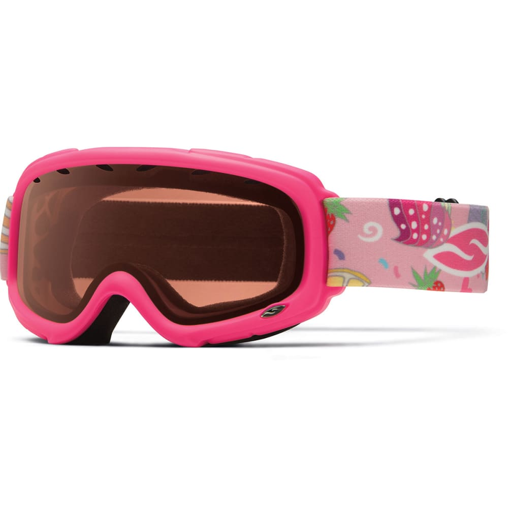 SMITH Kids' Gambler Snow Goggles, Bright Pink Cupcakes/RC36 - PINK
