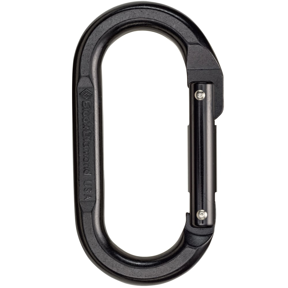BLACK DIAMOND Oval Carabiner - BLACK