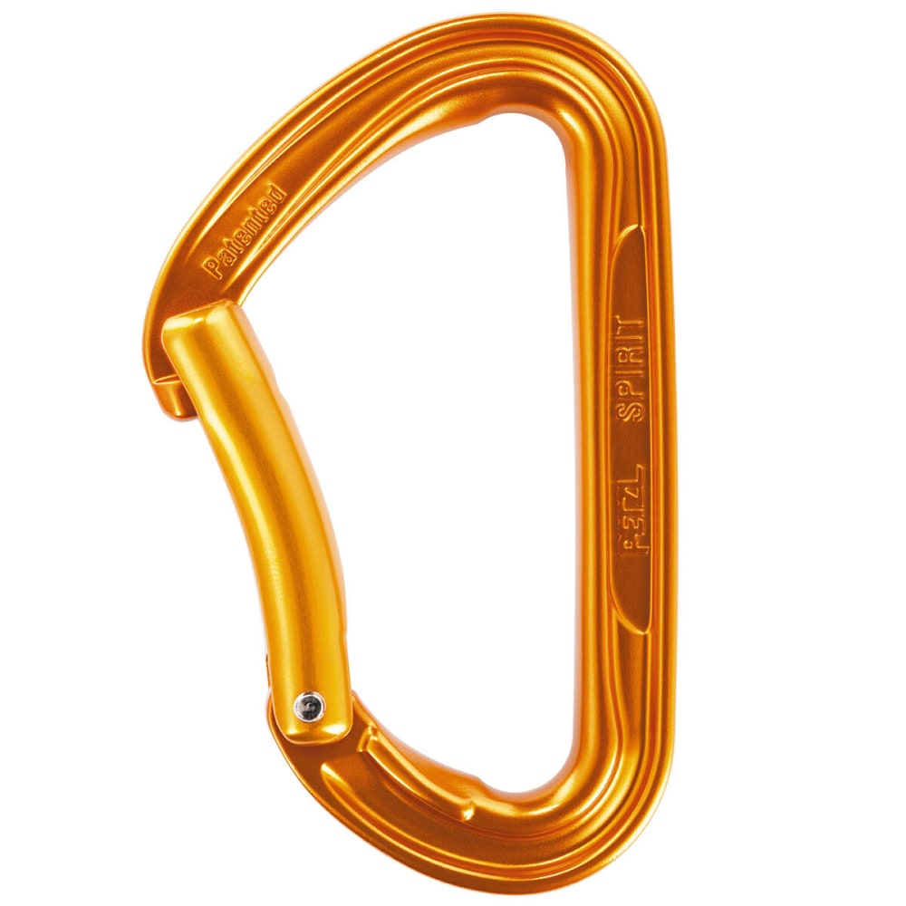 PETZL Spirit Bent Gate Carabiner - ORANGE
