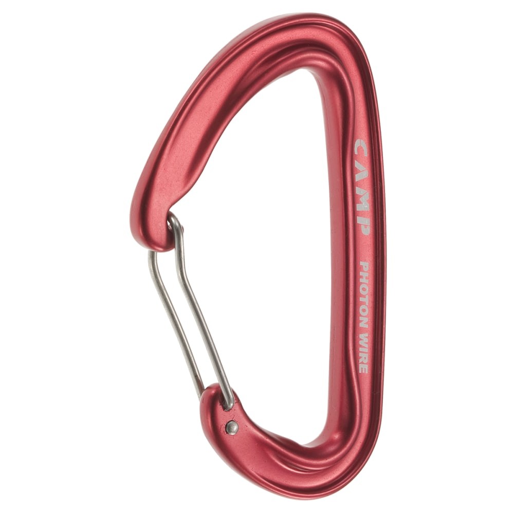 CAMP Photon Wire Straight Gate Carabiner - RED
