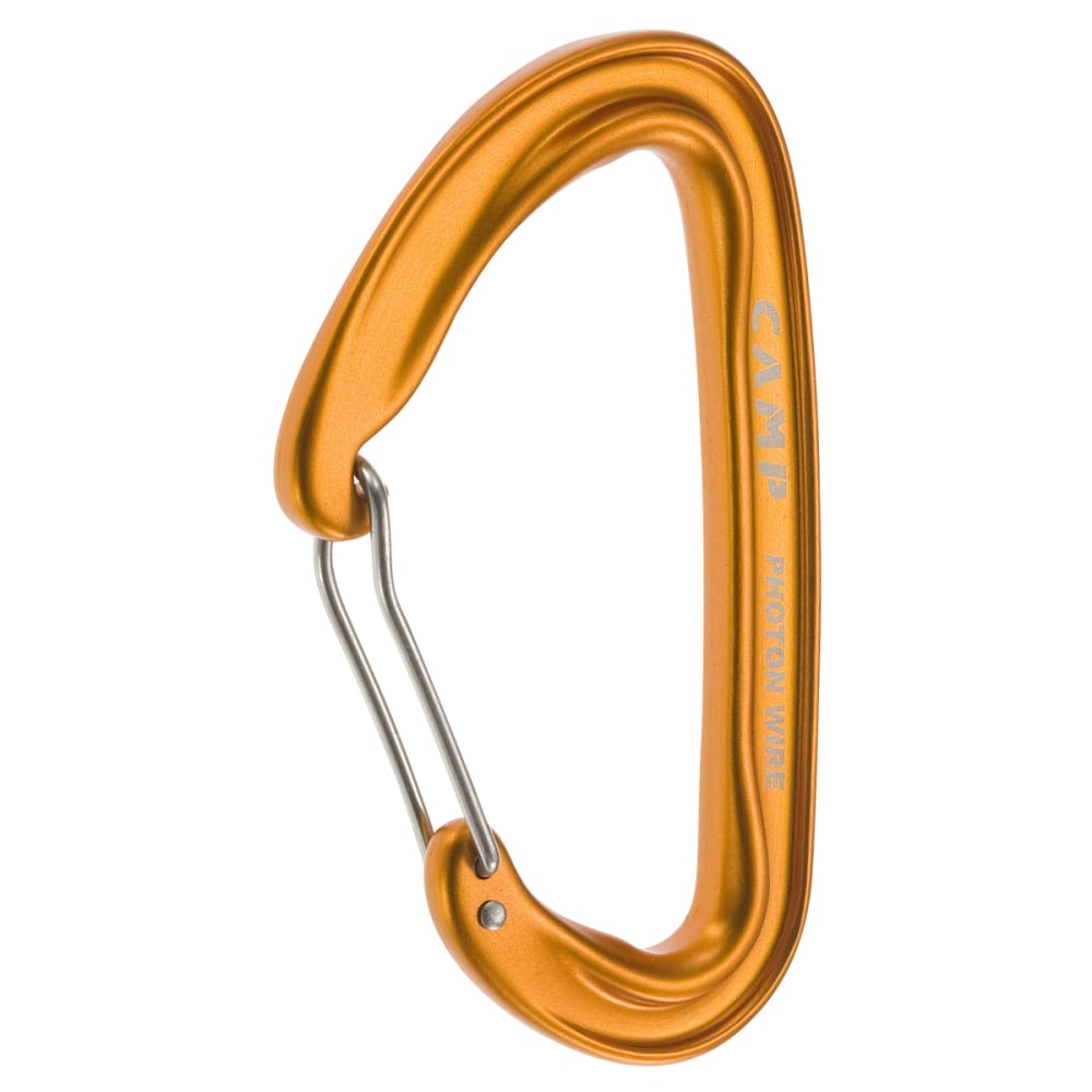 CAMP Photon Wire Straight Gate Carabiner - ORANGE