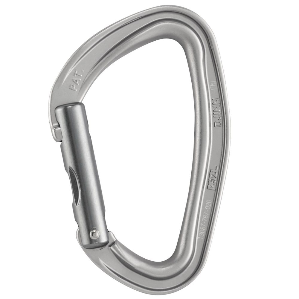 PETZL Djinn Carabiner, Straight Gate - GREY