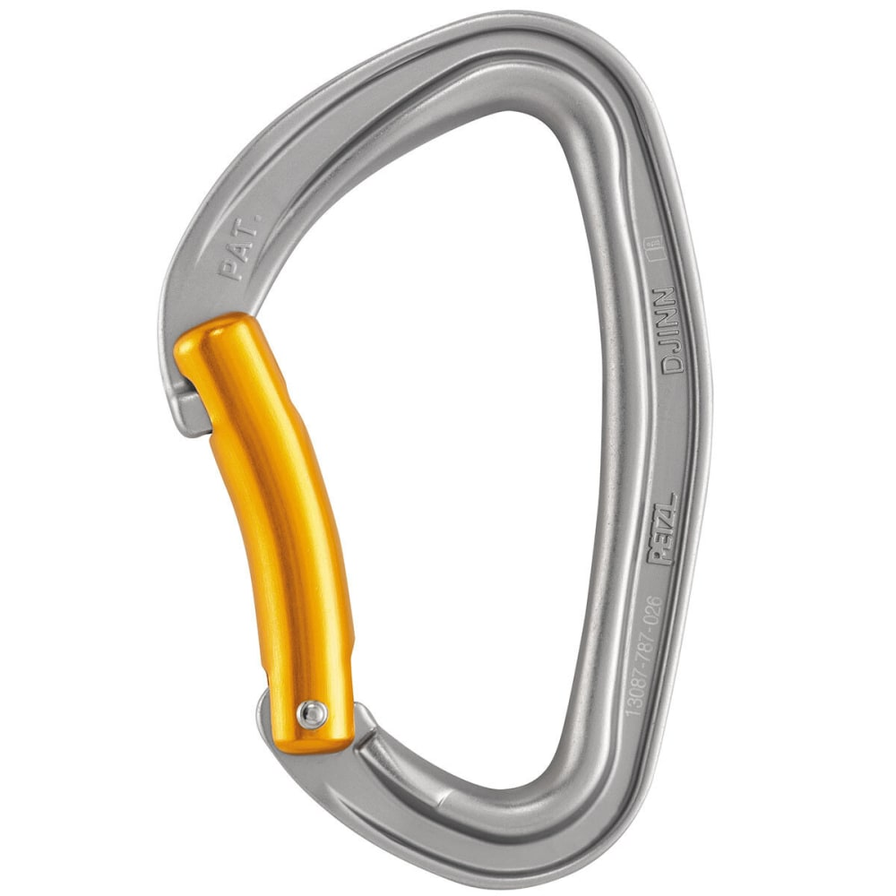 PETZL Djinn Bent Gate Carabiner - GREY/ORANGE