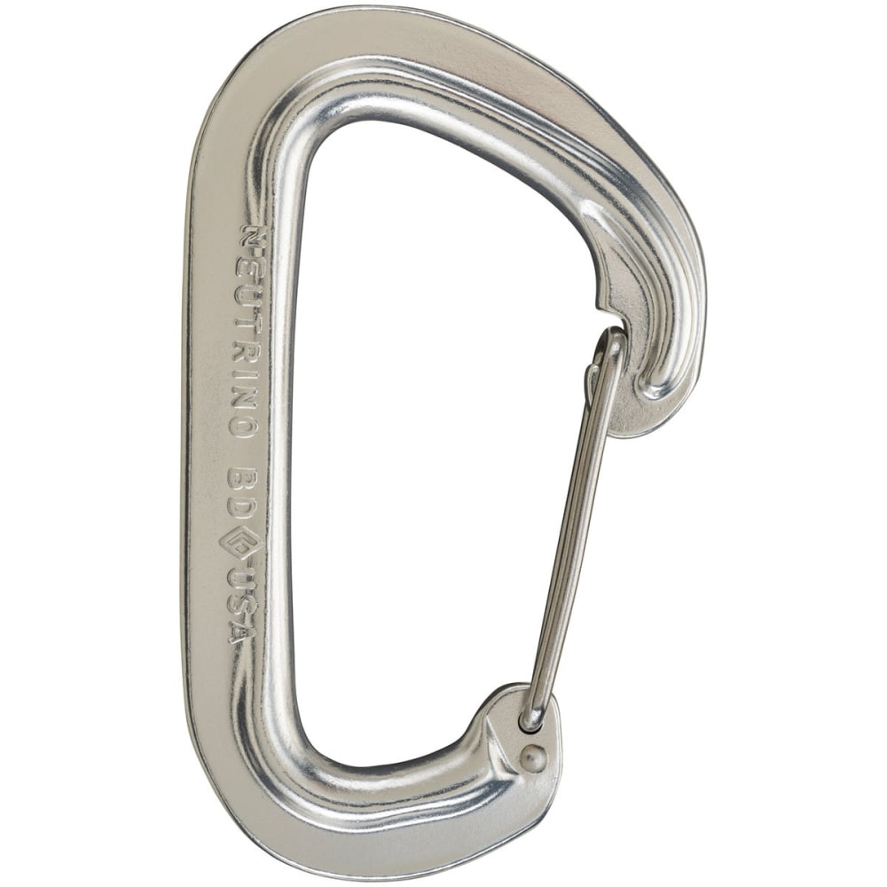 BLACK DIAMOND Neutrino Wire Gate Carabiner - SILVER