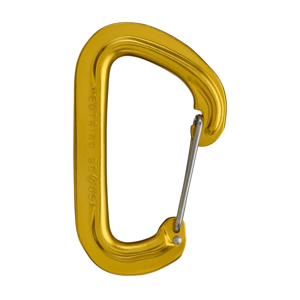 BLACK DIAMOND Neutrino Wire Gate Carabiner, Yellow - YELLOW