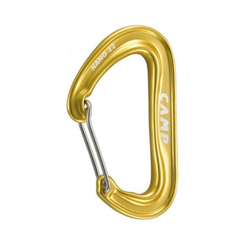 CAMP Nano 22 Carabiner, Yellow - YELLOW