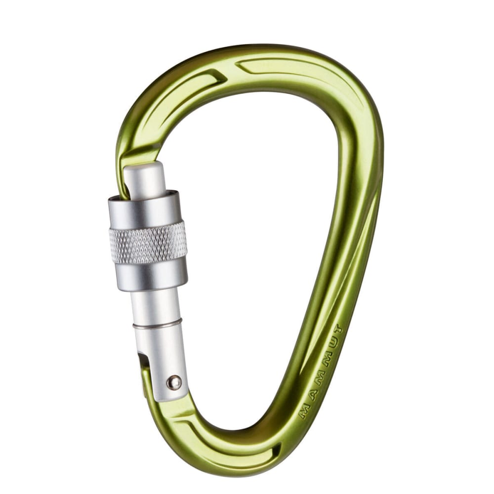 MAMMUT Crag HMS Screw Gate Carabiner - LEAF