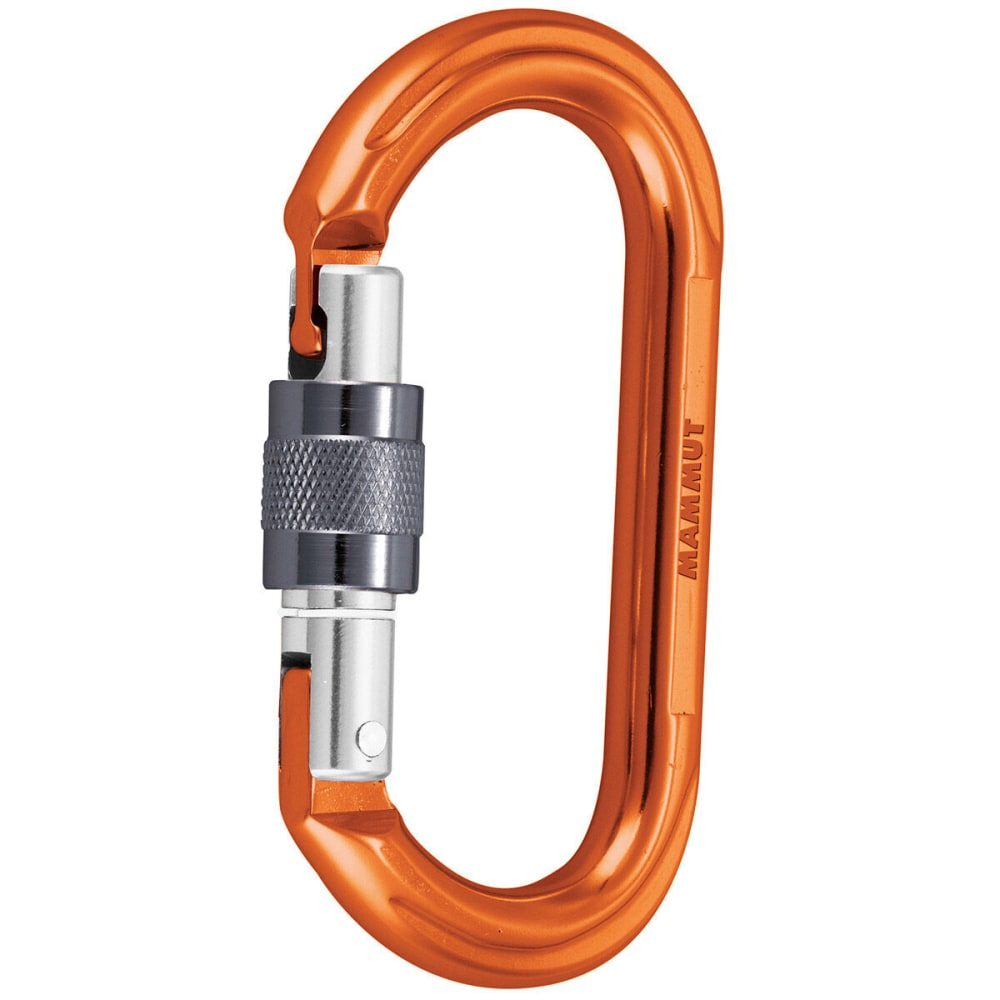 MAMMUT Wall Oval Screw Gate Carabiner - ORANGE